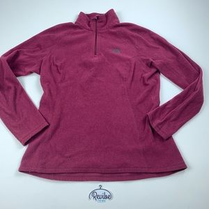 The North Face Burgundy Quarter Zip Sweater E3563